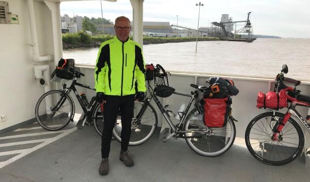 W. Rigter tijdens zijn  fietstocht naar Santiago de Compostela. Foto: PR