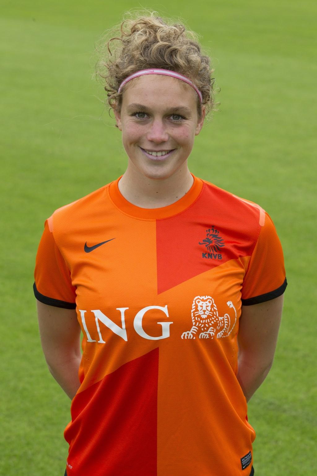 Mirte Roelvink. Foto: KNVB  © Achterhoek Nieuws b.v.