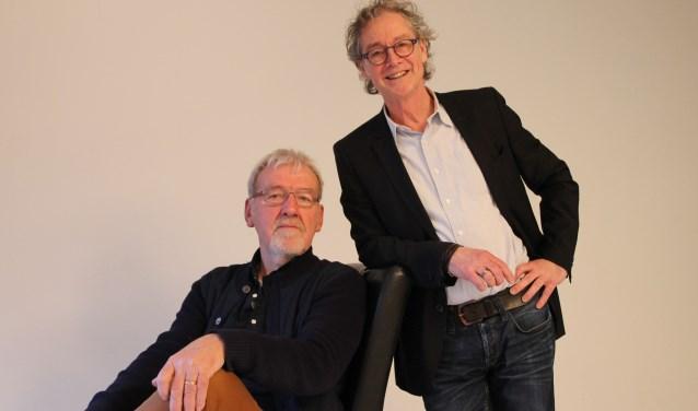 Regisseursduo Ben Donderwinkel (links) en Aad Witteveen willen van de Passion een totaalbeleving maken. Foto: Annekée Cuppers
