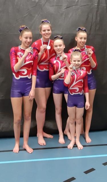 De succesvolle acrogymnasten. Foto: PR