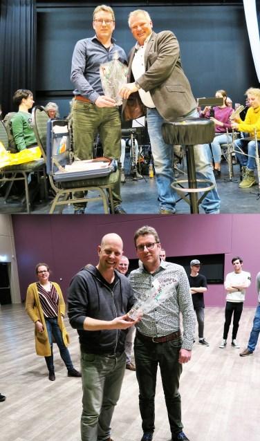 Boven jubilaris Marcel Loff en onder jubilaris John Sonderen. Foto's: Theo Huijskes