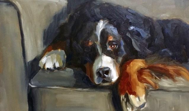Mirjam Laerveer portretteerde een zwaar hondenleven. Foto: PR