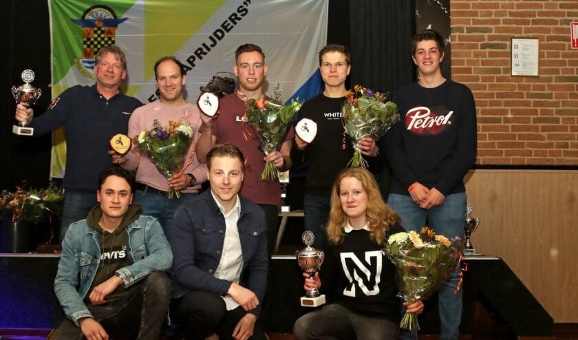 Cross- en endurokampioenen VAMC. Foto: Henk Teerink