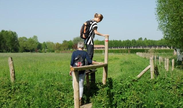 Een Klompenpad voert dwars door (voormalig) agrarisch gebied. Foto: PR SLG