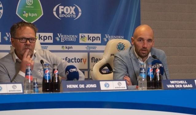 Henk de Jong na de wedstrijd tegen de grote concurrent in de degradatiestrijd NAC van trainer Mitchell van der Gaag. Foto: Achterhoek Foto/Henk den Brok
