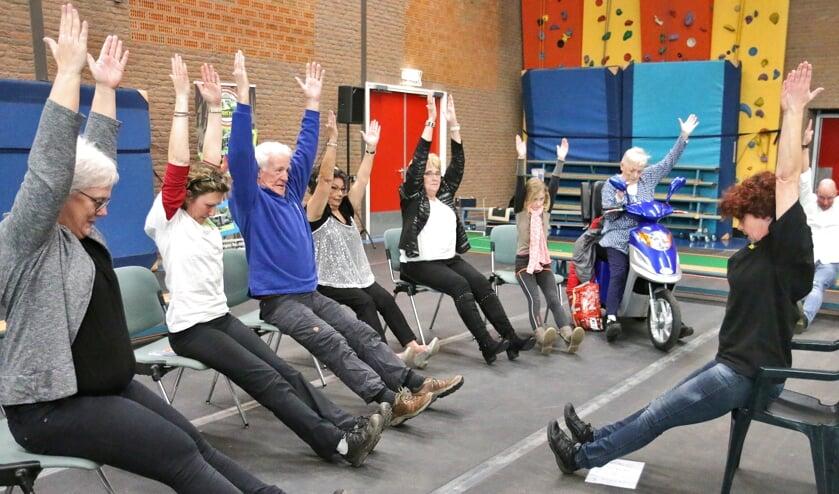 Een beeld van een activiteit op de Vitaliteitsbeurs in 20`8. Foto: Betty Morsinkhof