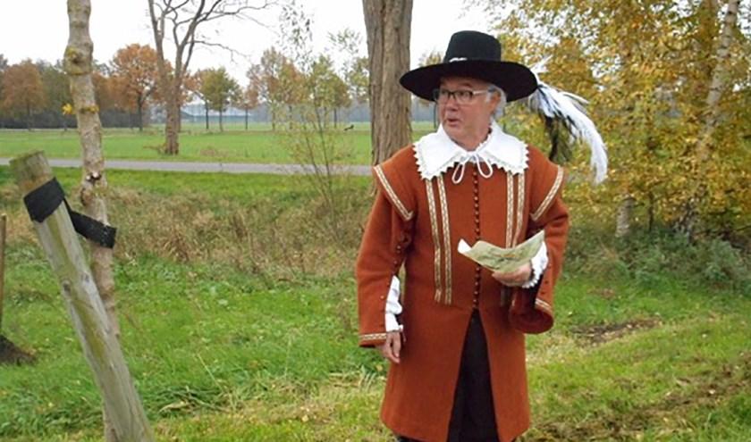 Hans Piek als Prins Maurits en stadsgids. Foto: PR