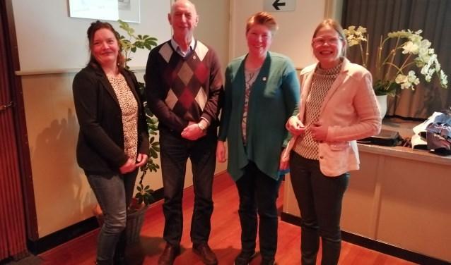 Jeanet Deunk, Bertie Huiskamp, Mariska Esselink en Ida te Velthuis werden gehuldigd. Foto: PR