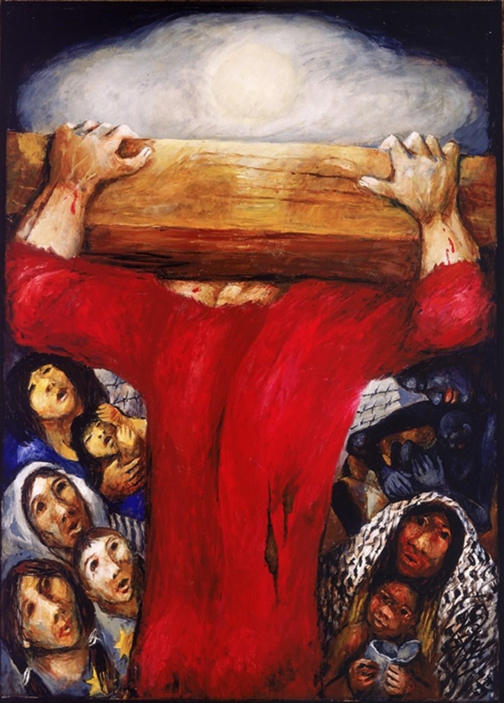 Jezus troost de wenende vrouwen - Sieger Köder. Foto: PR  © Achterhoek Nieuws b.v.