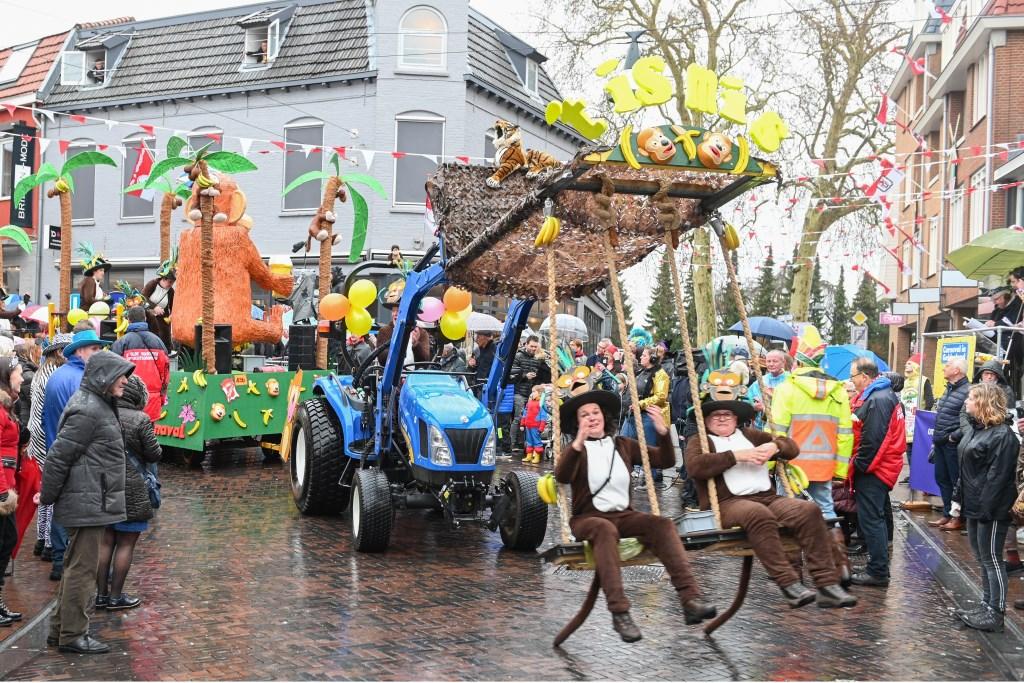 Apetrots op carnaval zijn ze in Waskuupstad. Foto: Achterhoek Foto/Henk den Brok  © Achterhoek Nieuws b.v.