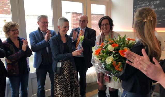 Myrthe Sikkink met Jan Markink en Stas Van Ark. Foto: PR