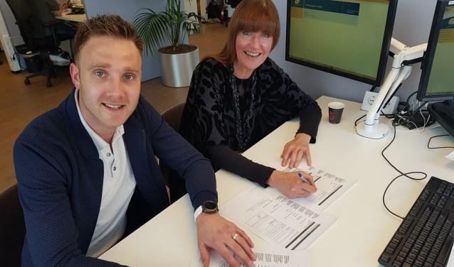 David Buist en Ans Hoekerswever tijdens de officiële ondertekening. Foto: PR