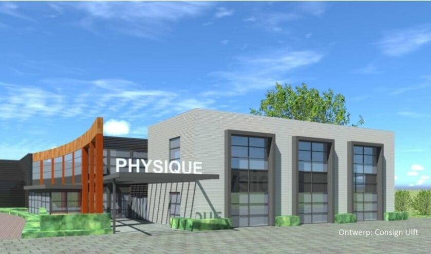 Zo komt het vernieuwde pand van Physique eruit te zien. Foto: Consign, bouwkundig teken- en adviesbureau
