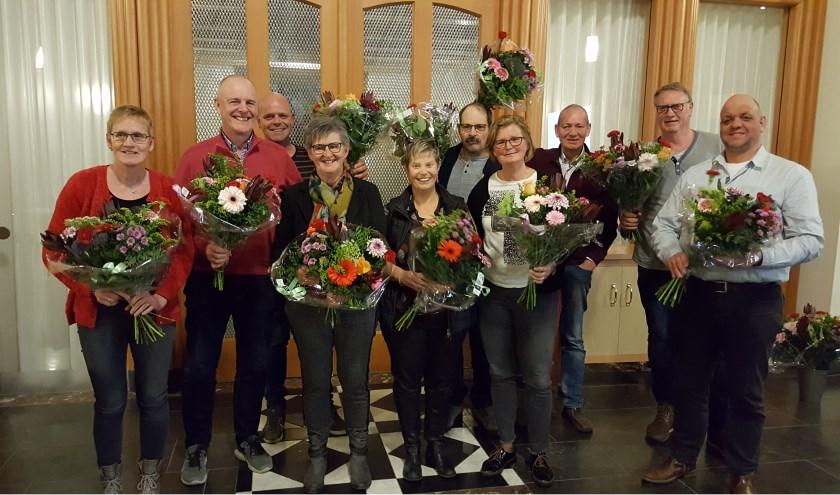 De tien jubilarissen van EHBO Beltrum. Foto: PR