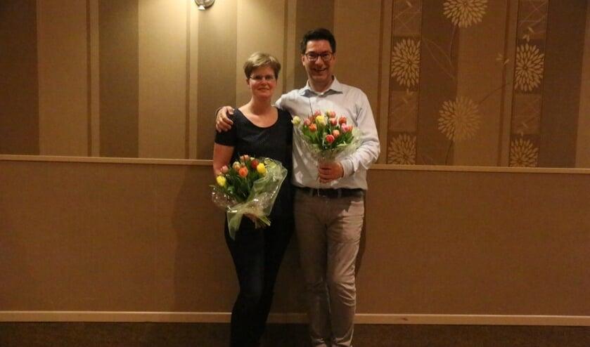 Carla Bon en René Raaben zijn de kegelkampioenen 2019 van de BKF. Foto: PR