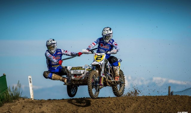 Koen Hermans en Nicolas Musset op weg naar hun 2e GP-zege. Foto: WSC