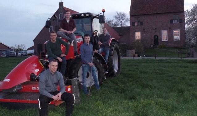 Bart Tiessink, Mark Hilge, Rutger Elbrink, Roel Bouwmeeste en Dirk Borgman (20) van Jong Gelre Vorden – Warnsveld. Foto: Jan Hendriksen