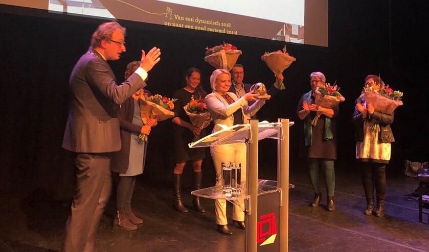 De uitreiking van de Doe Mee-award in januari. Foto: PR