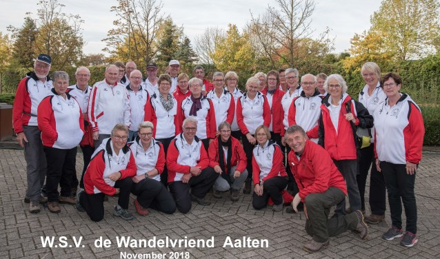 WSV De Wandelvriend leden. Foto: PR
