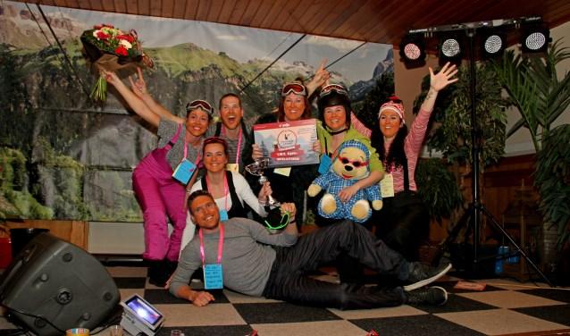 Het winnende team Die Wünderliche Spartanen van de vierde DorpsQuizZelhem. Foto: Liesbeth Spaansen