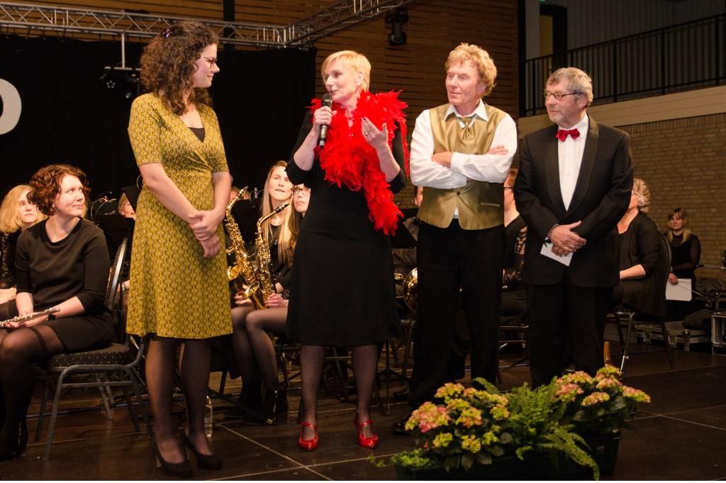 De vier deelnemende maestro's. V.l.n.r.: Mirjan Arends, Marianne Besselink, Dick Buunk en Frank van Setten. Foto: Achterhoekfoto.nl/Paul Harmelink  © Achterhoek Nieuws b.v.