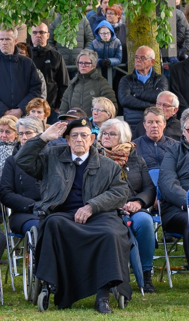 William 'Bill' Cole tijdens Dodenherdenking dit jaar. Foto: Achterhoek Foto/Henk den Brok