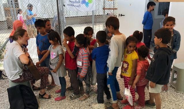 Vluchtelingen op Lesbos. Foto: Digna