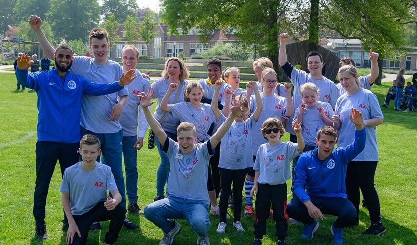 Team 'AZ' kreeg versterking van de Graafschap-spelers Youssef El Jebli en Bakker Foto:Henk den Brok