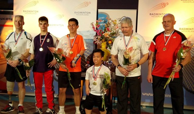 Eddy Boerman (r) behaalde brons. Foto: PR