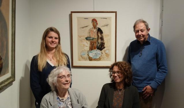 Drie generaties Hemelrijk. voorgrond links: Rietje en Willy. Staand Leonie en Wim Scholtz.  Foto: Clemens Bielen