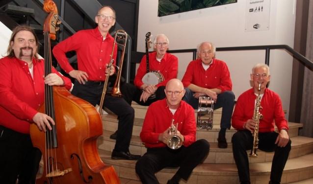 Jay Jay's Border Jazzmen viert op het twintigjarig bestaan in De Kruisberg. Foto: Cor Dekker Photografhy