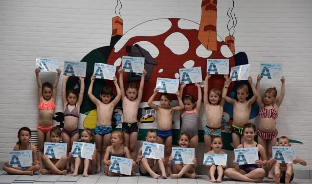 Allemaal geslaagd! Foto: Zwemschool Lichtenvoorde