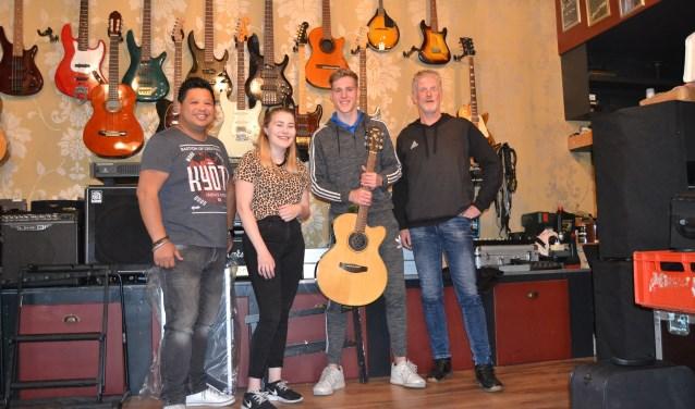 Van links af Gilbert,Meike, Mitch en Bernd. Foto: PR
