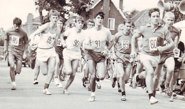 De start van de eerste Hanzeloop in 1970. Foto: PR