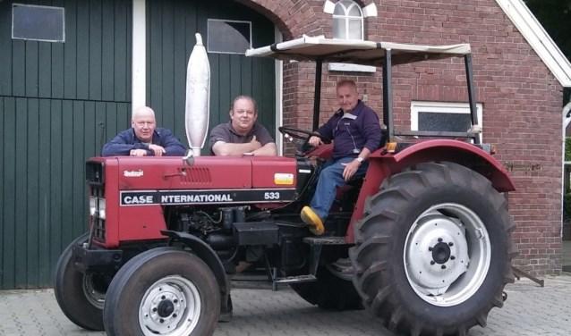 De organisatoren van de toerrit met oude tractoren. Foto: PR
