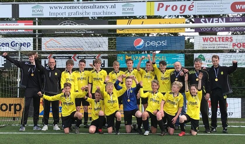 Het kampioenteam van  VV Ruurlo JO15-1. Foto: PR