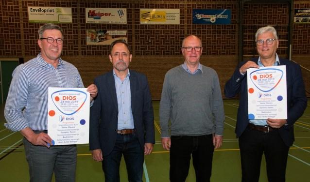 Van links af Jan van der Horst, Henk Teunissen, Wijnand Rigter en Koos Nederlof. Foto: Frank Vinkenvleuge