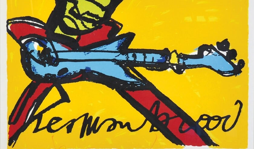 Herman Brood - de kunstenaar en de muzikant. Foto: Herman Brood Museum