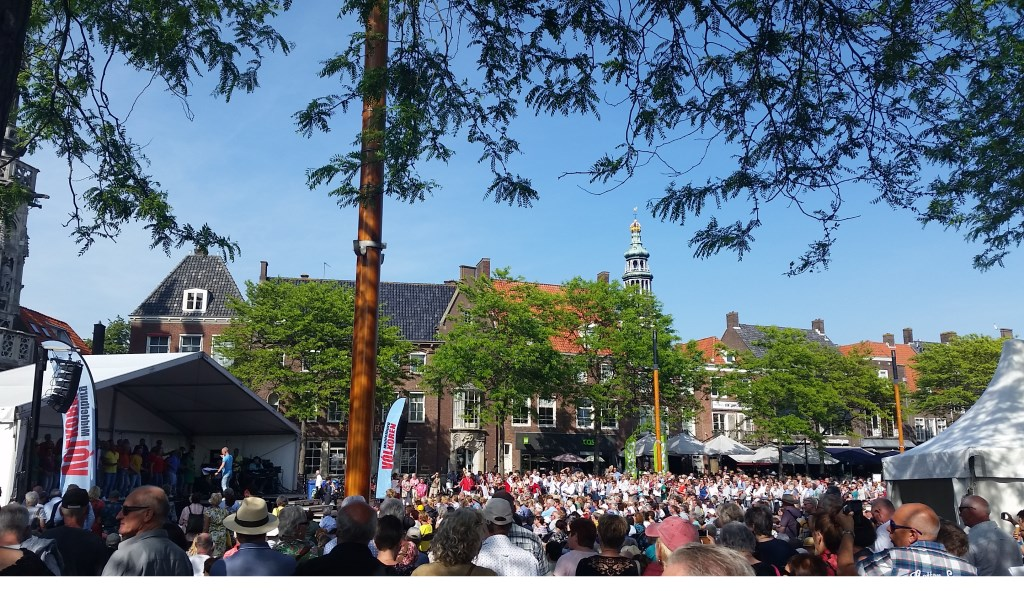 Ook hier is het plein overvol. Foto: PR  © Achterhoek Nieuws b.v.