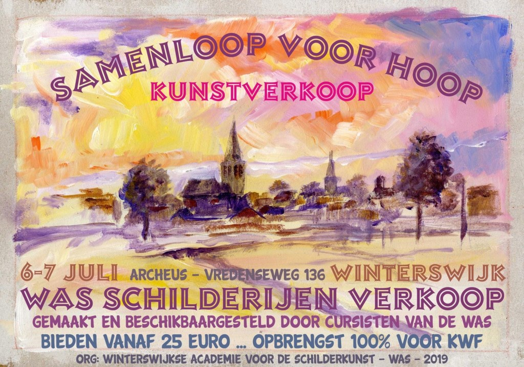 Vic Hulshof maakte de poster voor de kunstverkoop. Foto: PR   © Achterhoek Nieuws b.v.