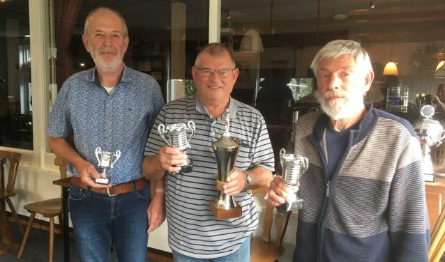 De top drie van het biljartkampioenschap van Ons Huis. Foto: PR