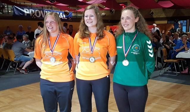 Winnares Suzan Zieverink (midden) van KV 't Broek uit Ruurlo. Foto: PR.
