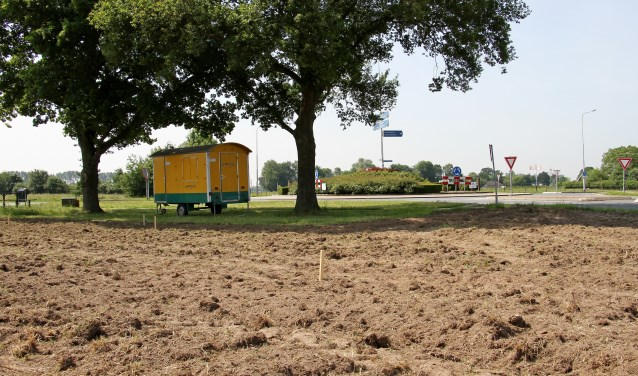 De rotonde bij Keijenborg met de afslag Kroezerijweg, waar de nieuwe bushalte 2.0 wordt gerealiseerd. Foto: Liesbeth Spaansen