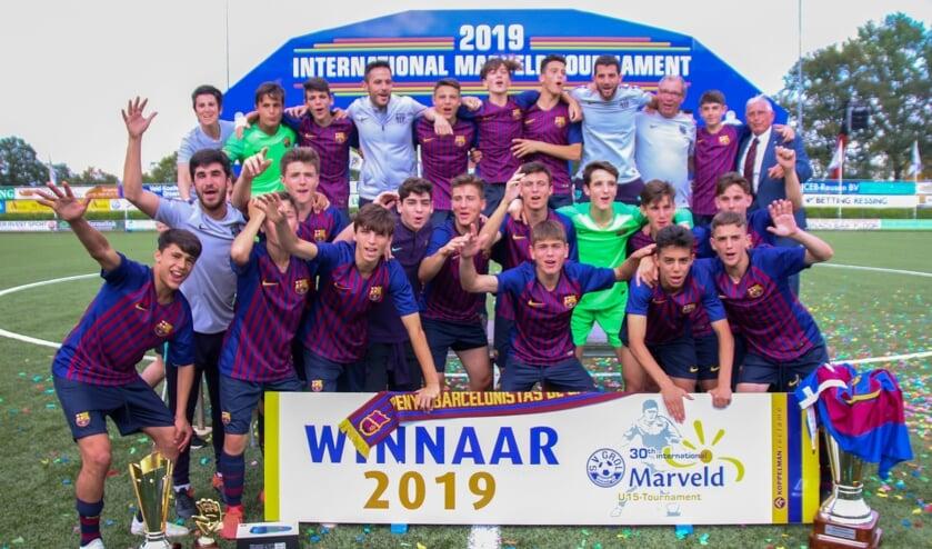 FC Barcelona, winnaar van de editie 2019 van het Internationaal Marveldtoernooi. Foto: Marcel Houwer