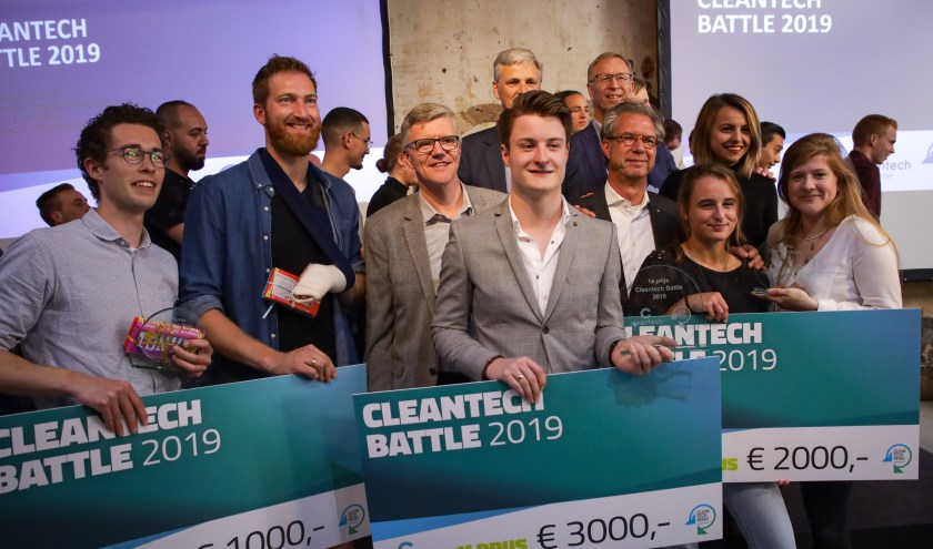 Alle winnaars Cleantech Battle 2019. Foto: Cleantech Center
