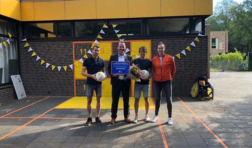 Het Cruyff Court werd officieel geopend door directievoorzitter Steven Enneman van Rabobank Graafschap. Foto: PR