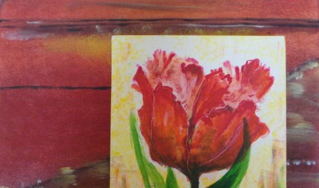 Een schilderij van Thea Bentvelzen. Foto: PR
