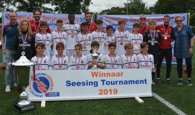 Het winnende team van het Seesing Tournament: AC Milan U12. Foto: PR Seesing Tournament