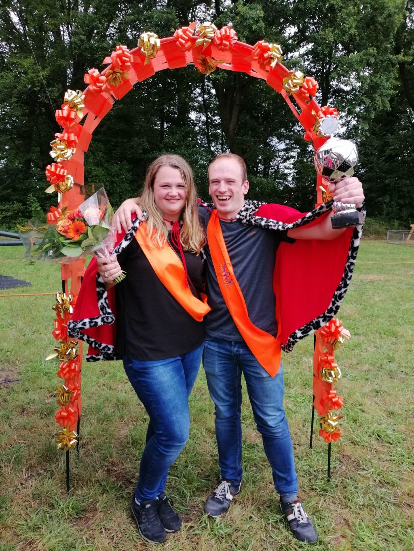 Koning Jeffrey Pardijs en zijn vriendin Nathalie. Foto: PR