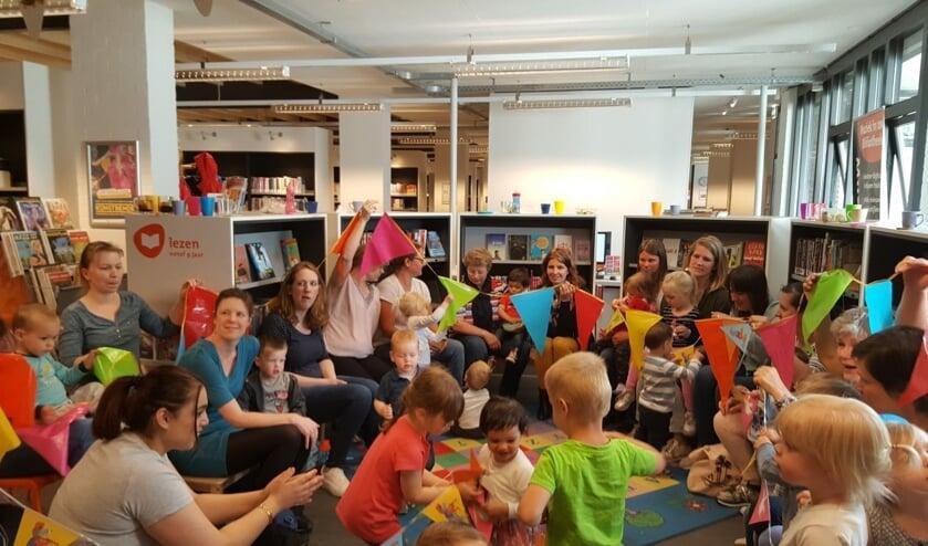 Een activiteit in de bibliotheek. PR